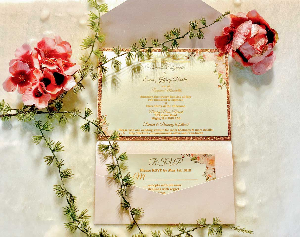 This site is just of glimpse of the invitations to choose from ...